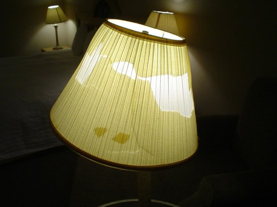 Bay Harbor Hotel: a lampshade that I had maintenance replace