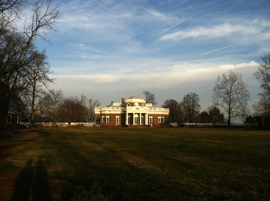 Thomas Jefferson'un Monticello'su: Monticello at sunset