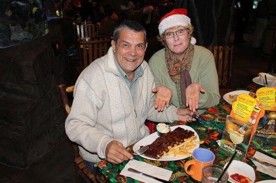 Rainforest Cafe: а вот такие в Техасе порции!