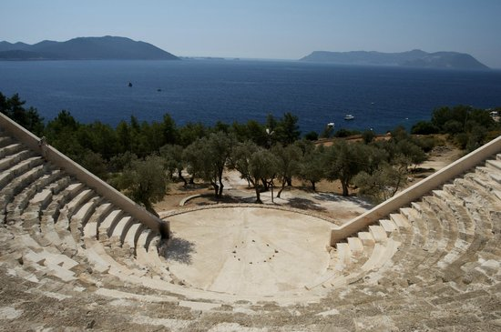 Hellenistic Theatre: Meis Island in front
