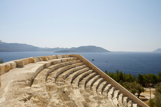Hellenistic Theatre: top of the theatre