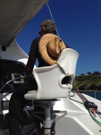 Island Sailing onboard Te Aura - Waiheke Island: Captain Phill