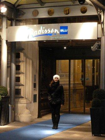 Radisson Blu Palais Hotel, Vienna: sposina imbacuccata