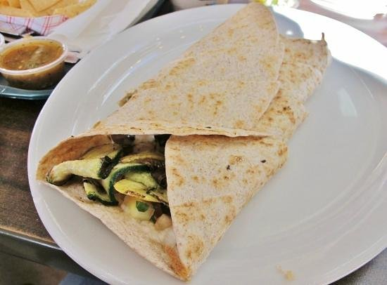 Pancho Villa Taqueria: Grilled vegetables quesadilla with whole wheat