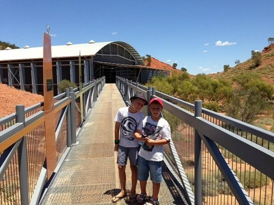 Dinosaur Stampede at Lark Quarry Conservation Park: Walkway and Timeline to Lark Quarry Facility