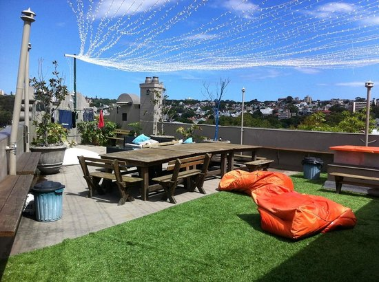 Kings Cross Backpackers: The rooftop where they hold great parties