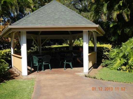 Punaluu Bake Shop and Visitor Center: outdoor eating area