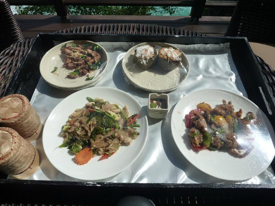 Paresa Resort Phuket: Lunch. Room service.