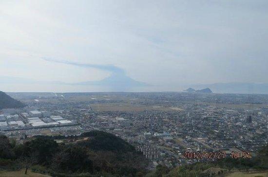 Shiroyama Park: 桜島を望む