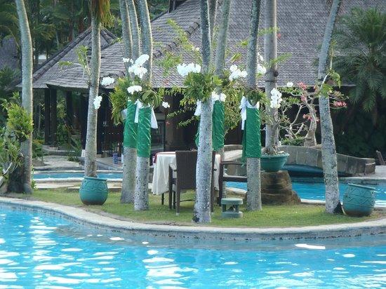 Hotel Vila Lumbung : our romantic dining area