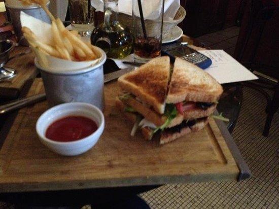 Match 65 Brasserie: Lobster Club Sandwich