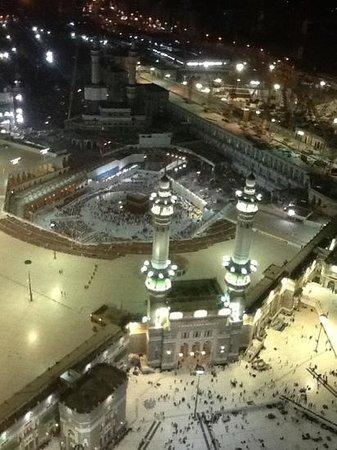 Raffles Makkah Palace: the view at night