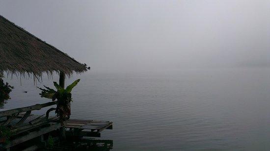 The Mae Ngat Dam & Reservoir: Early morning mist