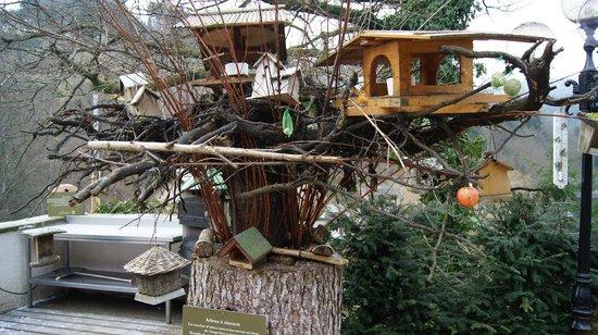 Hostellerie La Cheneaudiere - Relais & Chateaux: Plusieurs maisonnettes pour oiseaux avec mangeoire A VOIR