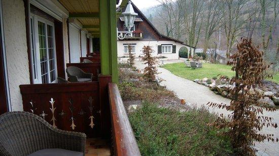 Hostellerie La Cheneaudiere - Relais & Chateaux: vue de notre chambre
