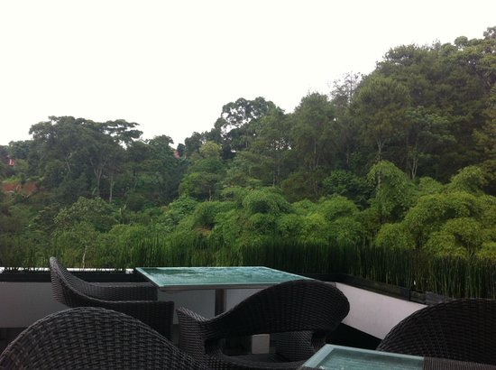 Padma Hotel Bandung: the corner of restaurant
