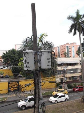 Hotel Residencial Cibeles: Vue électrique de la chambre 215 au 14 janvier 2013.