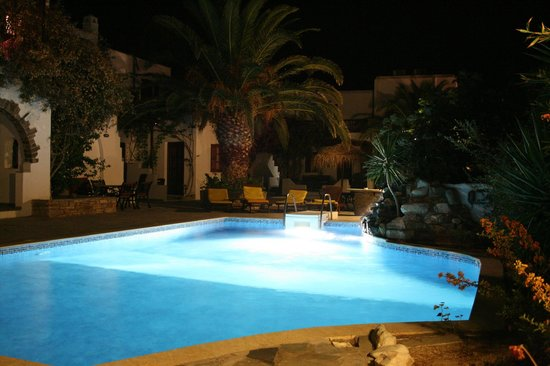 Summerland  Holiday's Resort: One of the two pools at nighttime