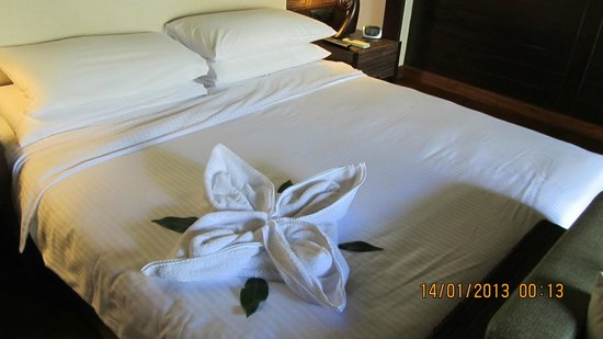 Bekal, India: decoration after housekeeping