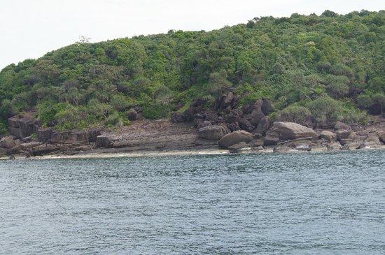 Saigon Phu Quoc Resort: вид острова, мимо которого мы проплывали