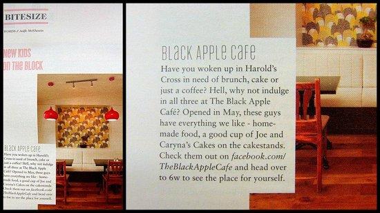 The Black Apple Cafe: Totally Dublin magazine