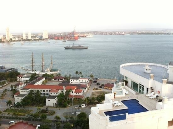 Decameron Cartagena: vista de la bahía desde la azotea
