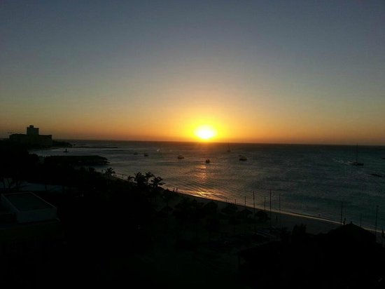Occidental Grand Aruba All Inclusive Resort: sunset from room