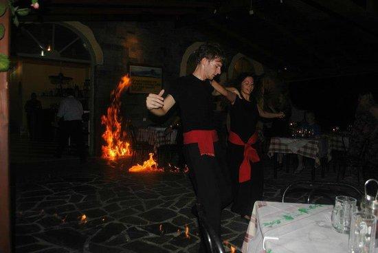 Loxides Apartments: greek fire dancing