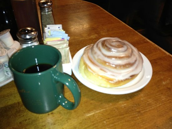 Eske's Brew Pub: The awesome cinnamon roll...get it heated, of course