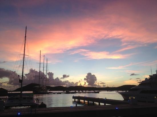 Grande Cru Restaurant and Wine Bar: The sunset from the Grande Cru patio.