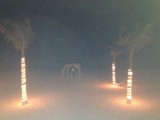 Gran Caribe Resort: Our meal on the beach.