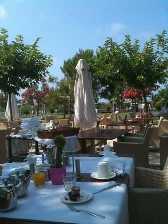 Select Villa: breakfast under blue sky