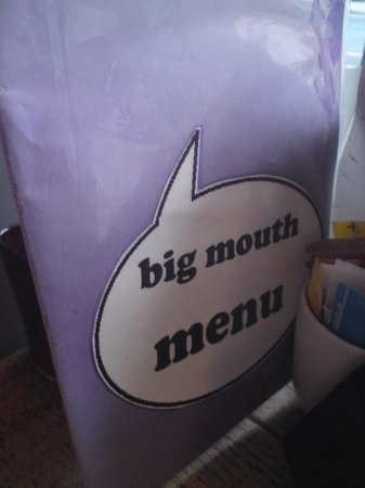 Big Mouth Coffee Co.: Menu Card, Big Mouth Cafe, Partick