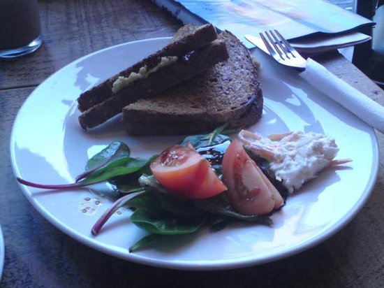 Big Mouth Coffee Co.: Hummous Toastie, Big Mouth Cafe, Partick