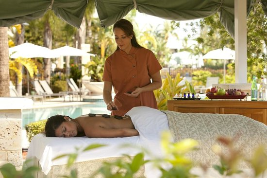 Spa Treatment in the Pool Cabana