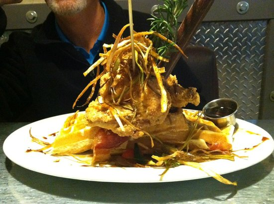 Hash House Sage Fried Chicken and Waffles