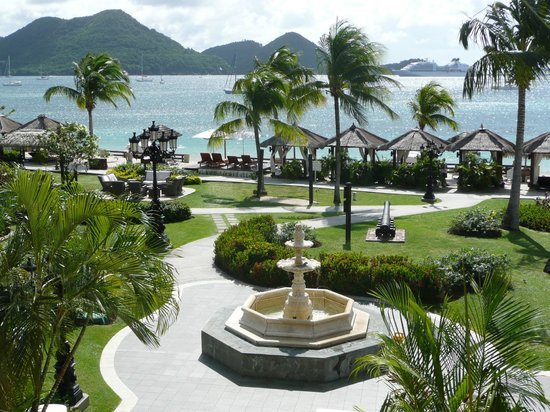 Sandals Grande St. Lucian Spa & Beach Resort: Gartenanlage
