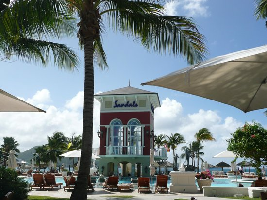 Sandals Grande St. Lucian Spa & Beach Resort: Sandals Turm