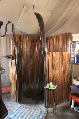 Wilderness Safaris Davison's Camp: Shower