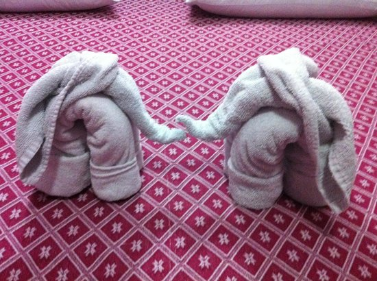 Hotel Tunich Beh: SO cute how they fold the towels!