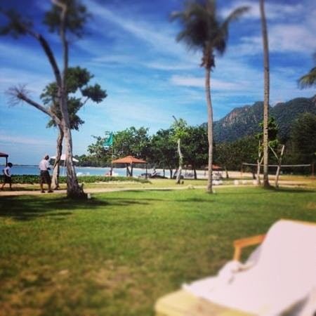 The Danna Langkawi, Malaysia: view from my sun lounger