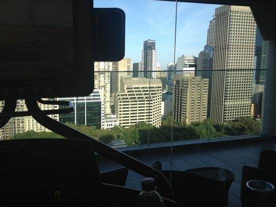 ‪‪Pullman Sydney Hyde Park‬: view from treadmill
