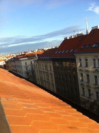 Anna Hotel: вид из окна номера на центр Праги