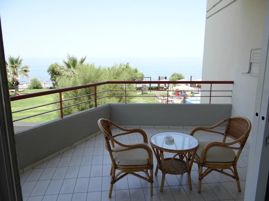 Rethymno Palace: terrasse de chambre