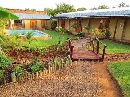 Mon Repos Guest Farm: Hall (weddings etc) and pool