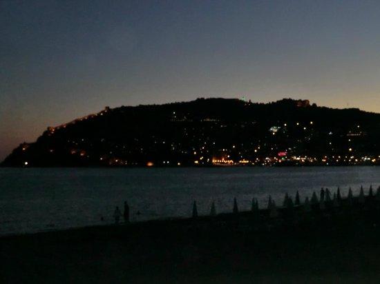 Blick zur Burg am Abend