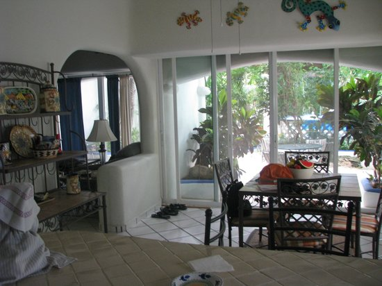 Natz Ti Ha Condominios: from kitchen looking out to patio