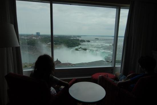 Marriott Niagara Falls Fallsview Hotel & Spa: vista sulla horseshoe