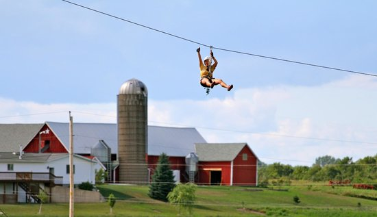 Door County, WI:                   Zip Line with DC Adventure Center