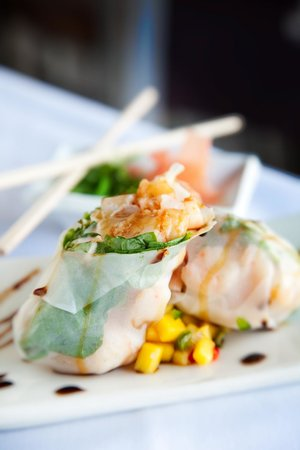 Ocean: Thai Spiced Shrimp Rice Paper Roll